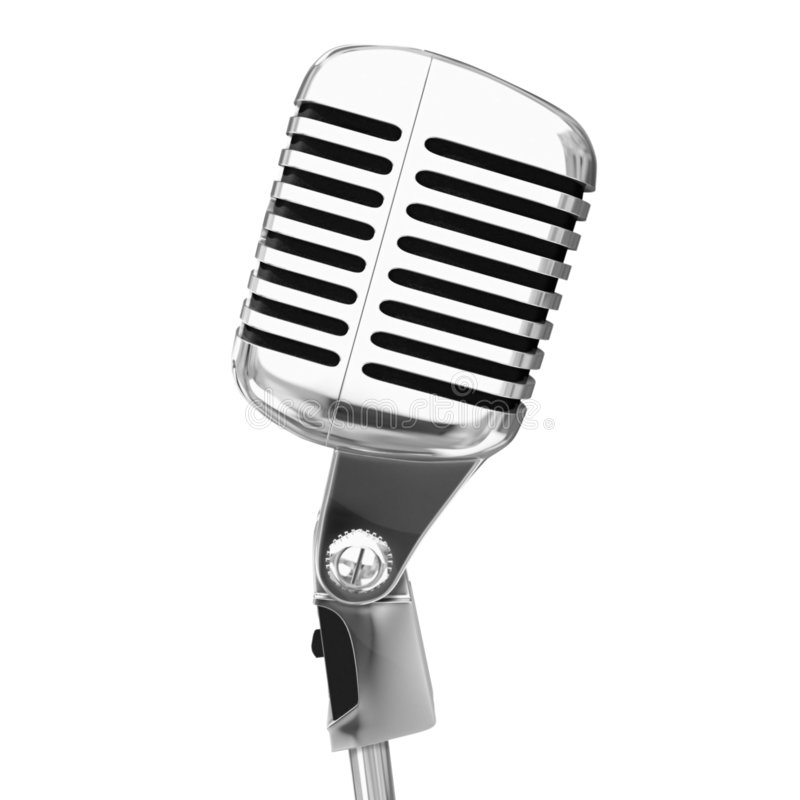 Microphone d'isolement illustration stock