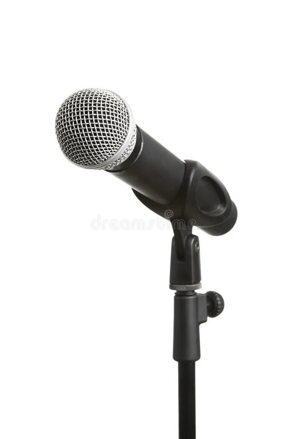 Microphone d'isolement sur le blanc image stock