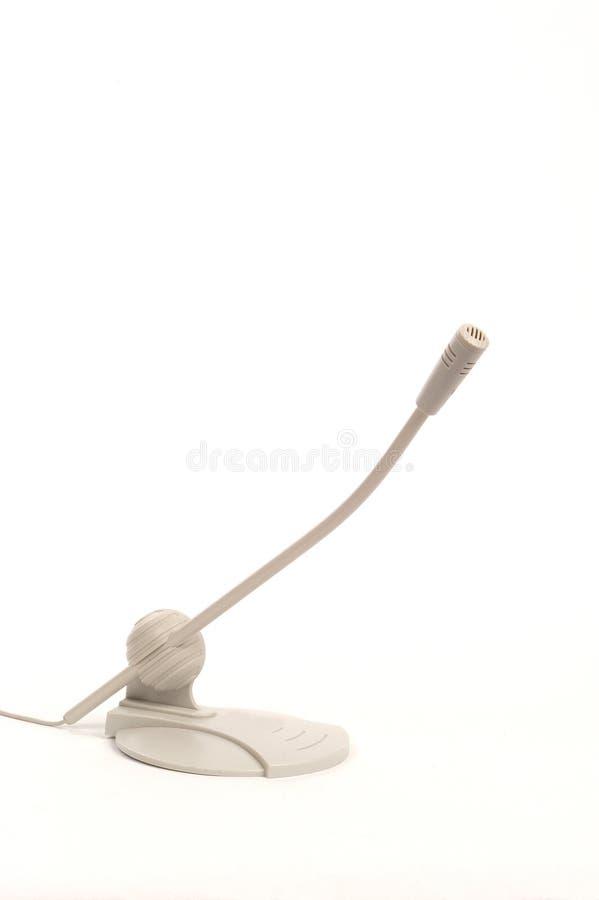 Microphone d'ordinateur photographie stock