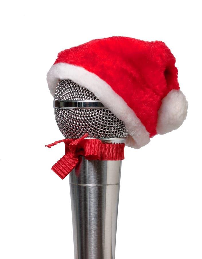 Microphone dans le chapeau photo stock