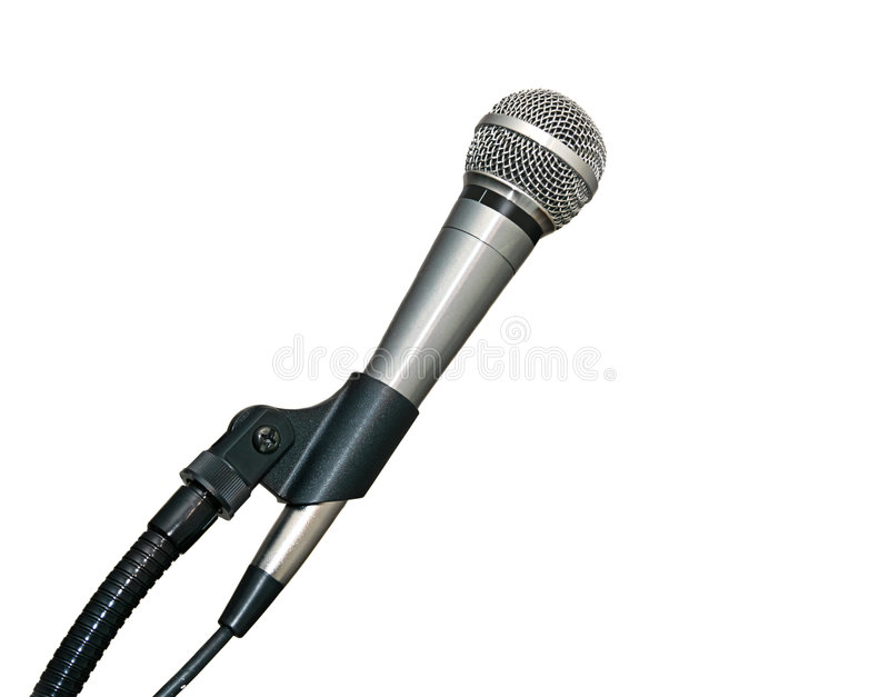 Microphone dans le stand photo stock