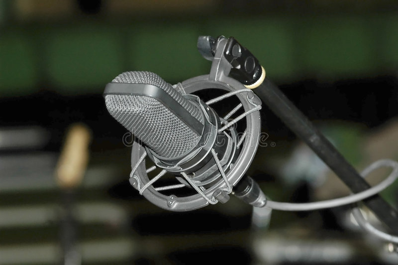 Microphone de berceau images stock