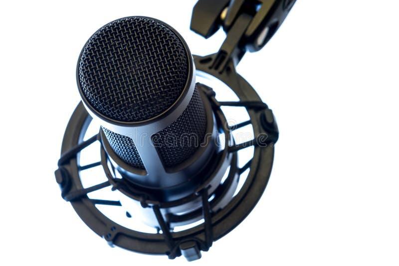 Microphone de condensateur photo libre de droits