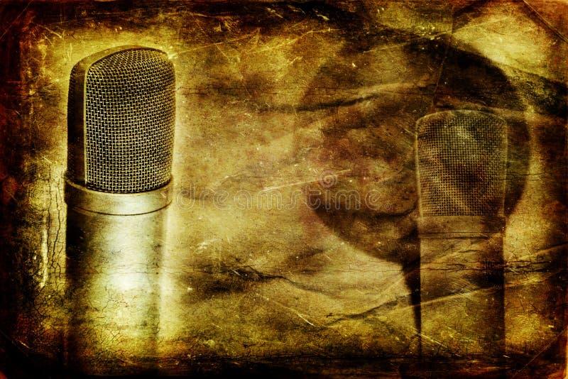 Microphone de condensateur de cru illustration de vecteur