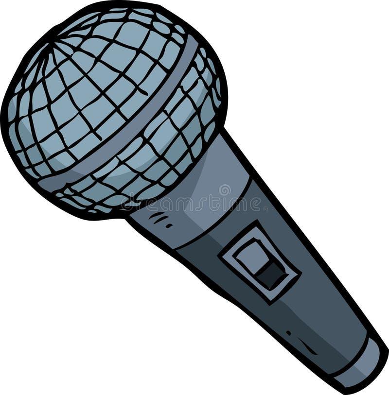 Microphone de griffonnage de bande dessinée illustration libre de droits