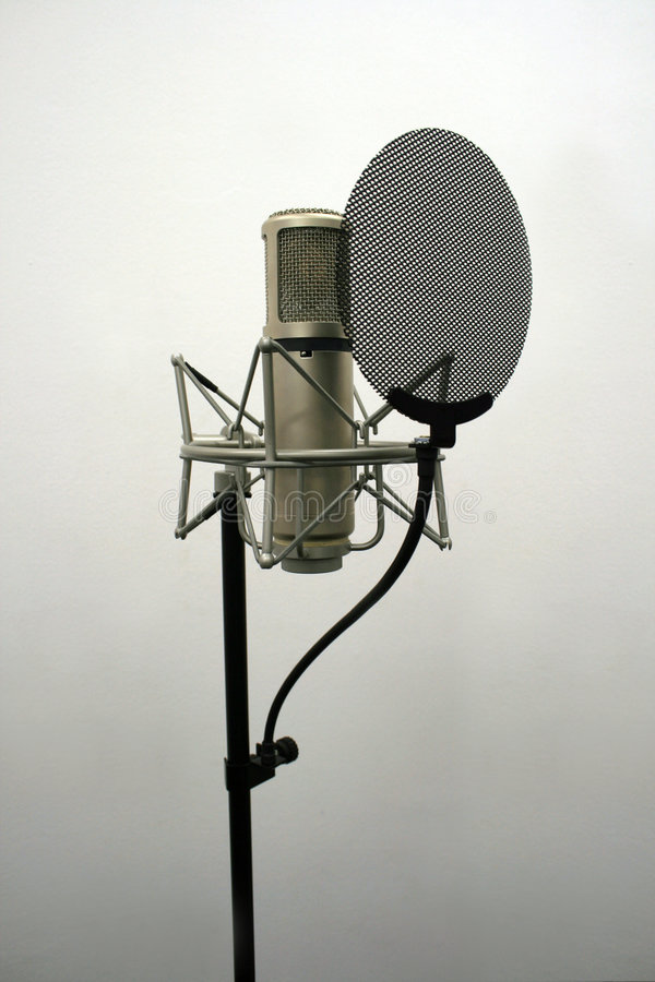 Microphone de studio photo stock