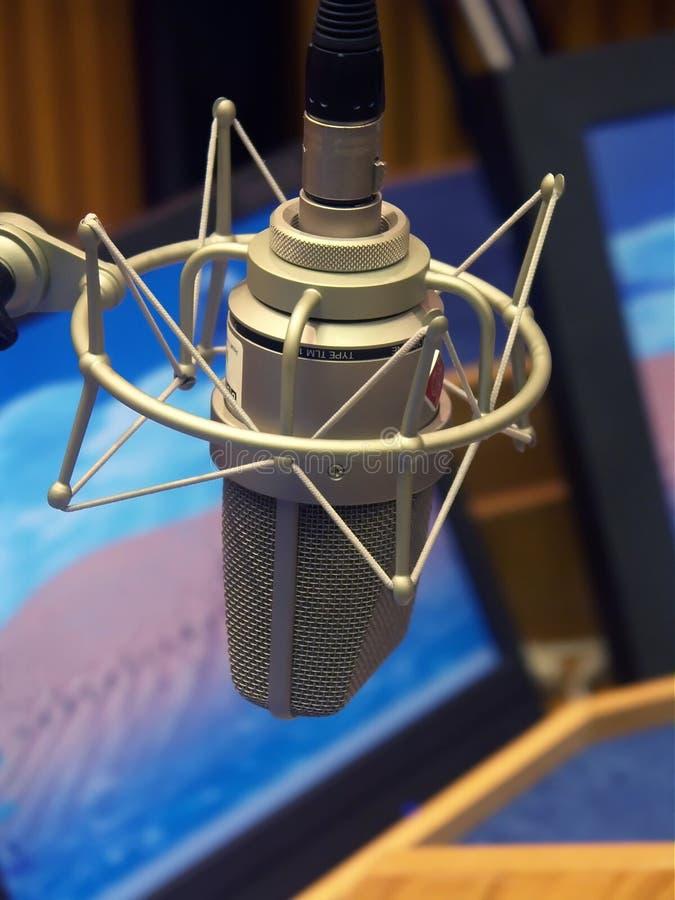 Microphone de studio images stock