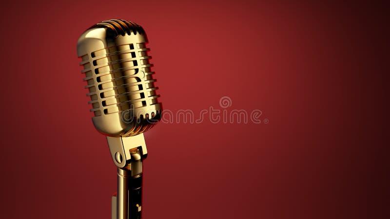 Microphone de vintage illustration stock
