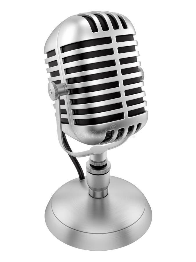 Microphone de vintage photographie stock libre de droits