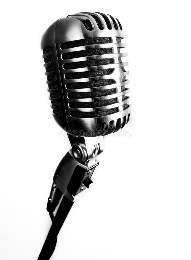 Download Microphone de vintage photo stock. Image du étape, classique - 77160694