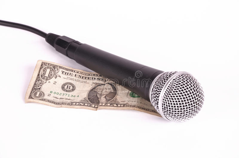 Microphone And Dollar Royalty Free Stock Photo