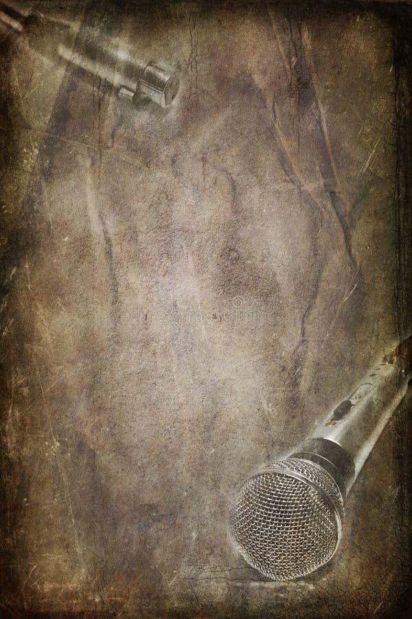 Microphone dynamique de vintage illustration stock