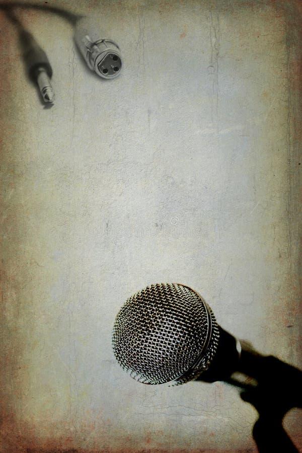 Microphone dynamique de vintage illustration de vecteur