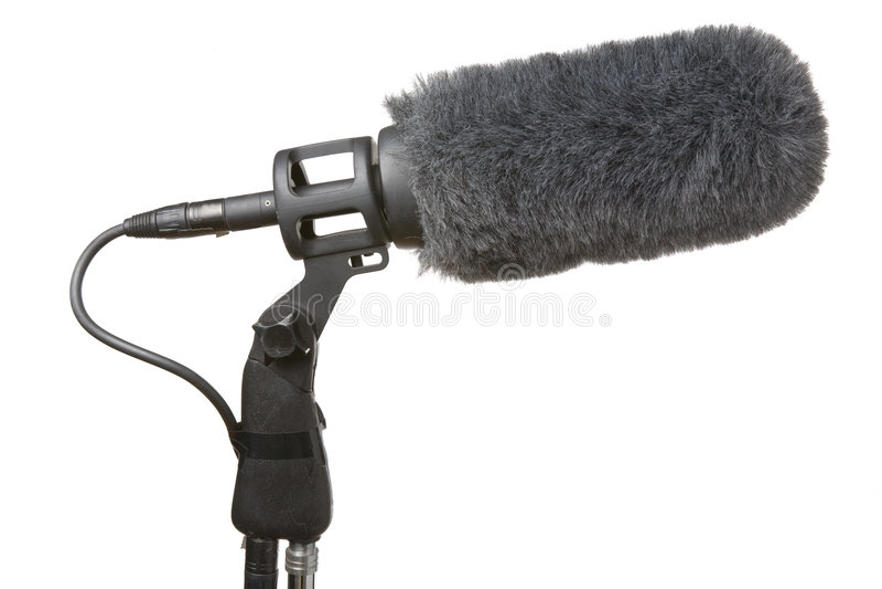 Microphone et pare-brise photographie stock libre de droits