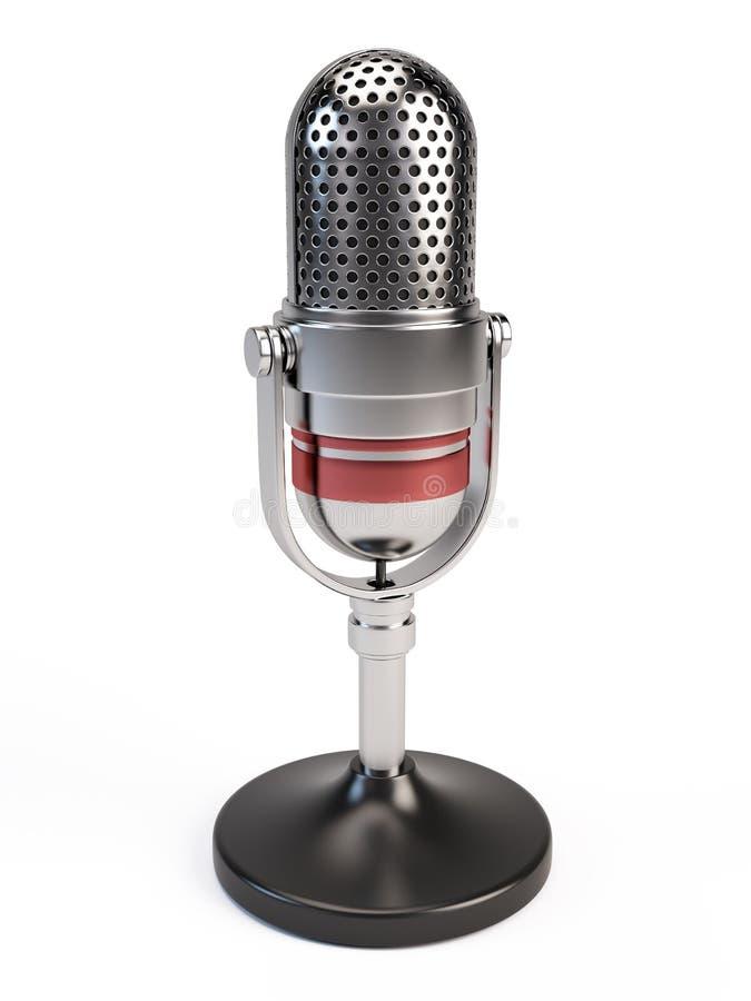 Microphone icon. 3d render render vector illustration