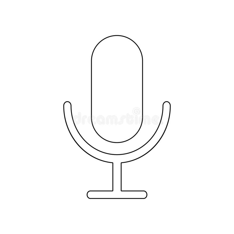 Microphone icon. Element of music instrument for mobile concept and web apps icon. Outline, thin line icon for website design and royalty free illustration