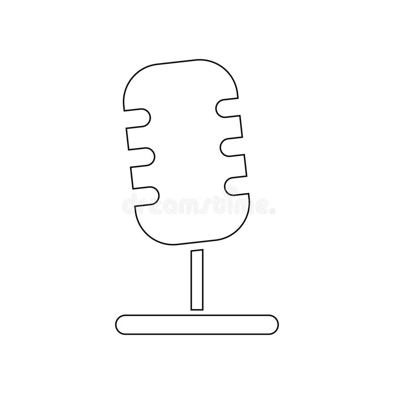 Microphone icon. Element of music instrument for mobile concept and web apps icon. Outline, thin line icon for website design and stock illustration