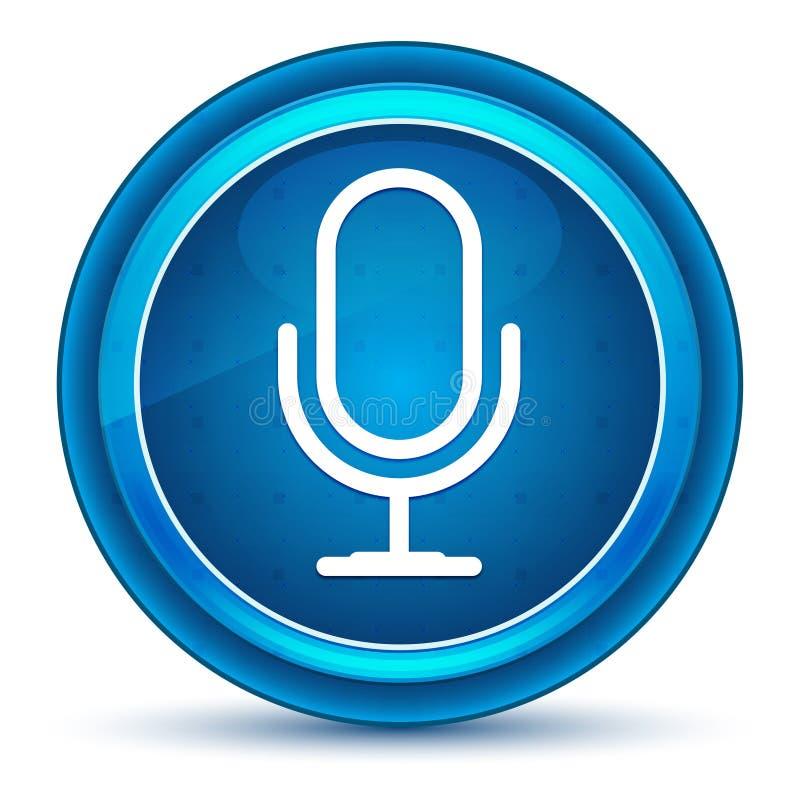 Microphone icon eyeball blue round button. Microphone icon isolated on eyeball blue round button royalty free illustration
