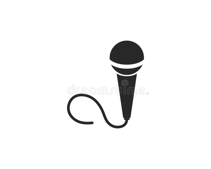 Microphone icon. Vector template vector illustration