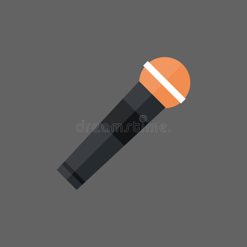 Microphone Icon Modern Mic Audio System Technology royalty free illustration