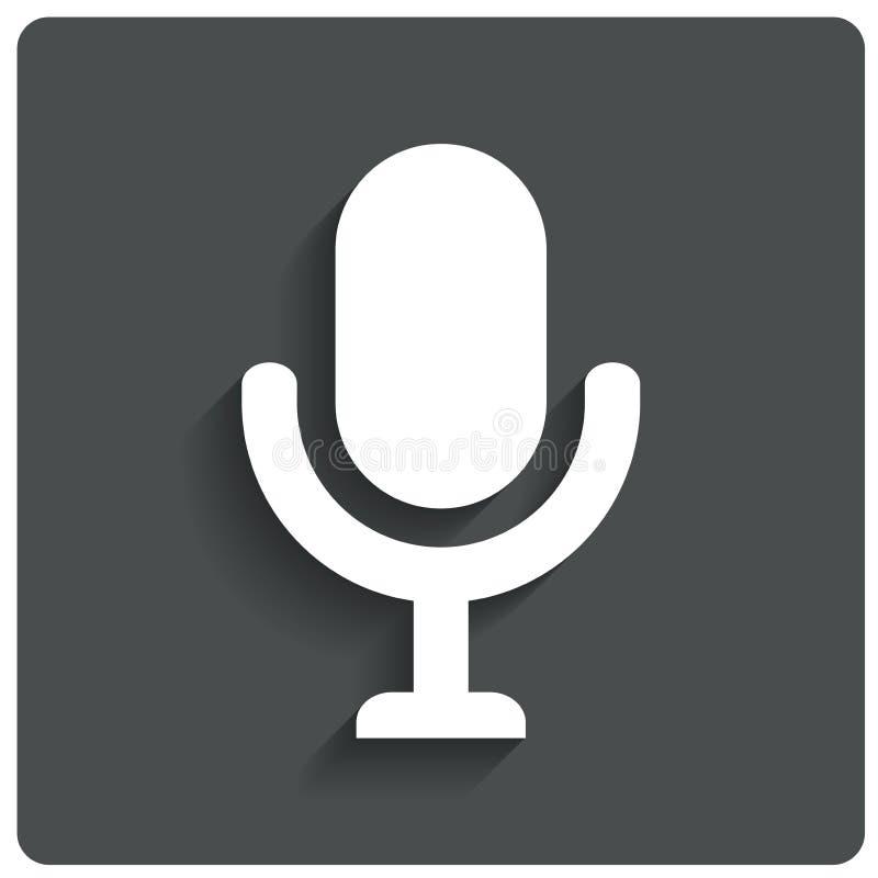 Microphone icon. Speaker symbol. Live music. royalty free illustration