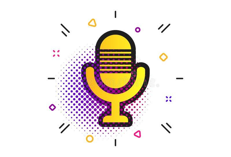 Microphone icon. Speaker symbol. Live music sign. Vector stock illustration