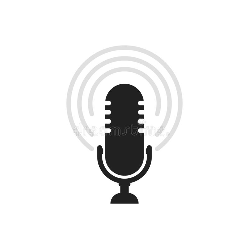 Microphone icon. Speaker vector. Sound sign isolated on white background. Simple illustration for web and mobile platforms vector illustration