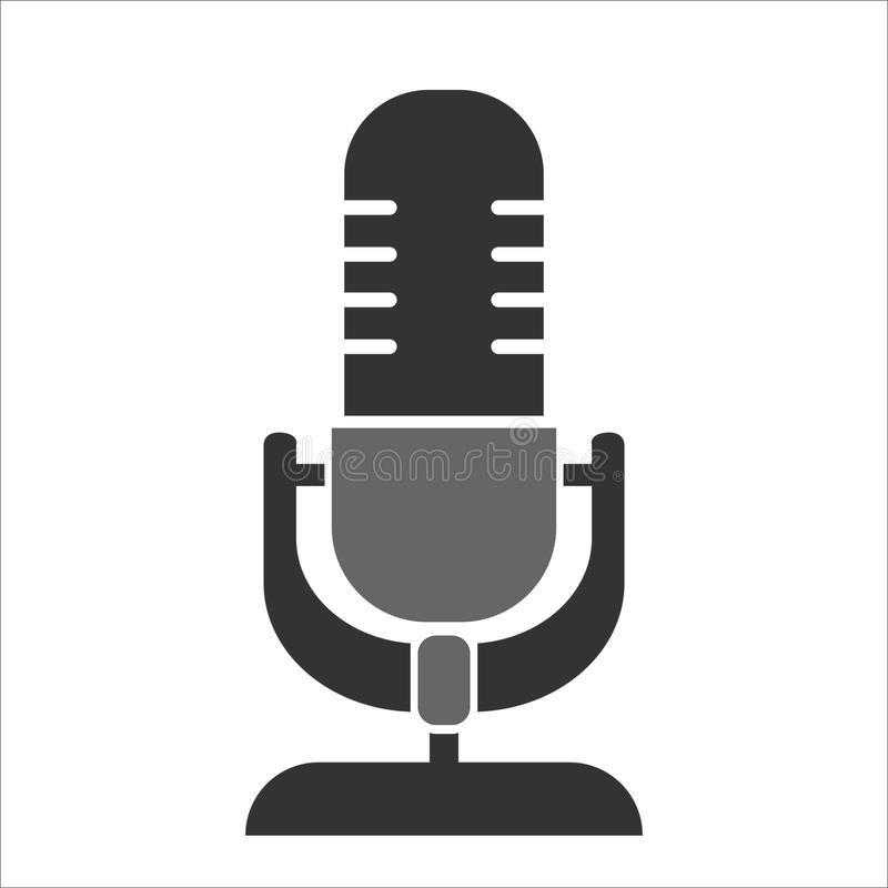 Microphone classic with stand vector illustration