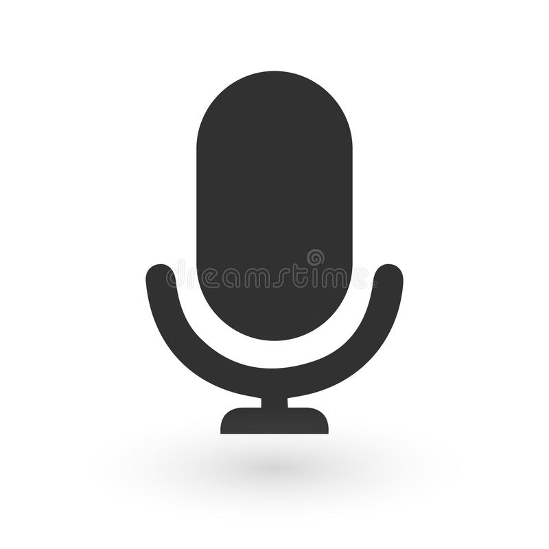 Microphone Icon vector illustration isolated on white background ,flat design, vector illustration
