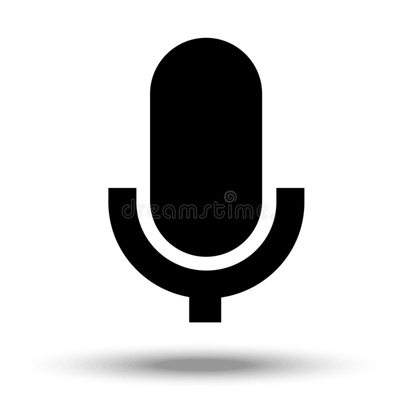 Microphone icon isolated on a white background. Microphone icon vector isolated on a white background vector illustration