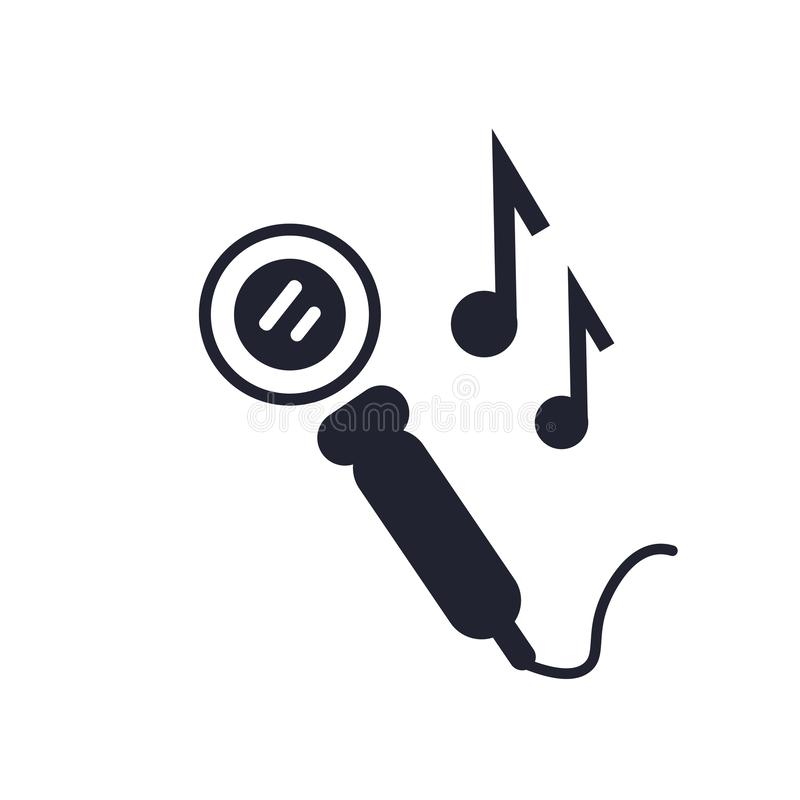 Microphone icon vector sign and symbol isolated on white background, Microphone logo concept. Microphone icon vector isolated on white background for your web vector illustration