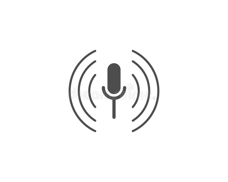 Microphone icon. Vector template flat design stock illustration