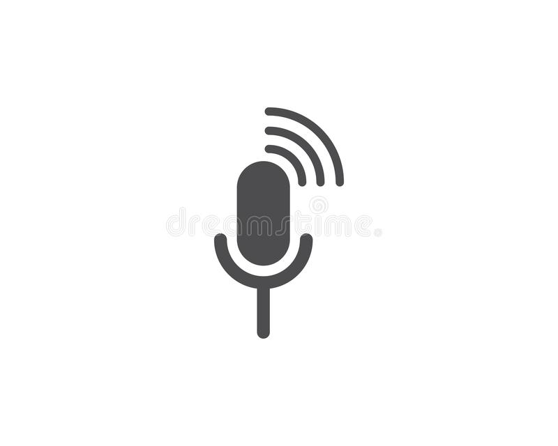 microphone icon vector royalty free illustration