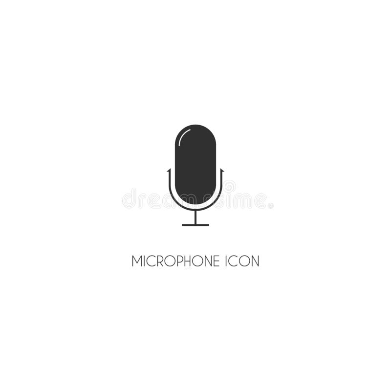 Microphone Icon vector web flat symbol EPS10 vector illustration
