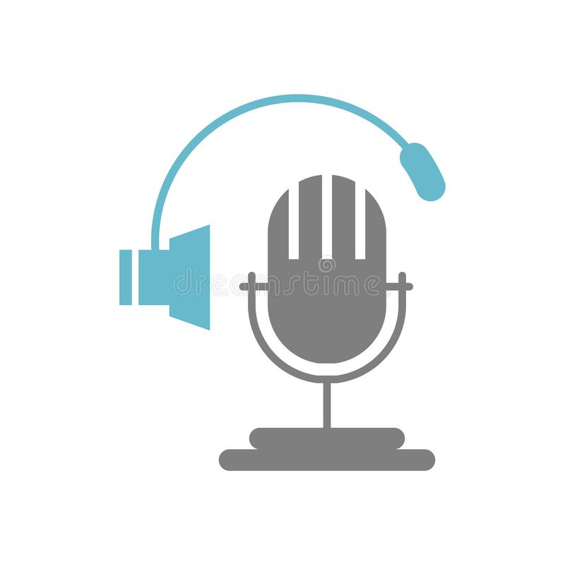 Microphone icon on white background for graphic and web design, Modern simple vector sign. Internet concept. Trendy symbol for vector illustration