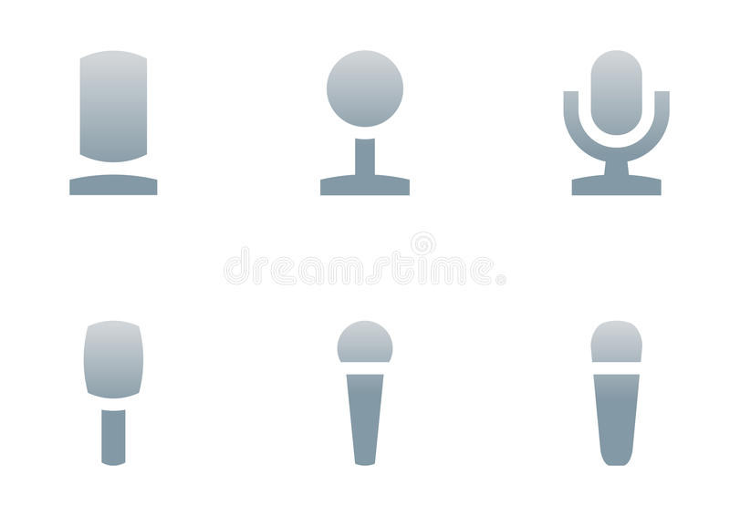 Microphone icons vector illustration