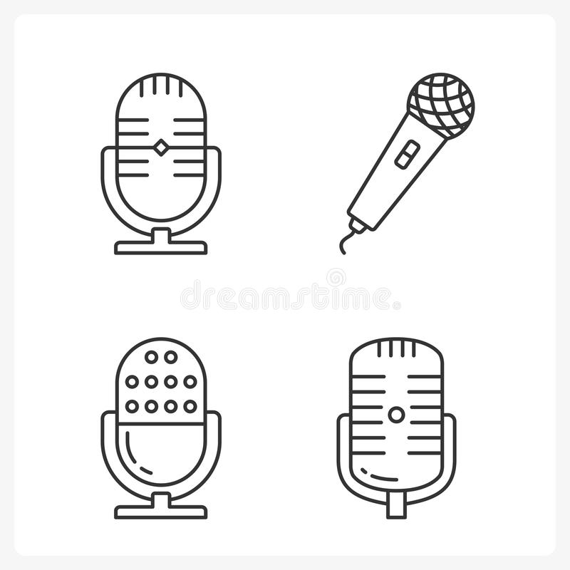 Microphone Icons royalty free illustration