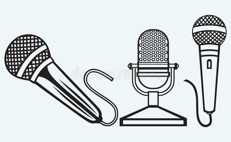 Microphone Icons Set Royalty Free Stock Photography