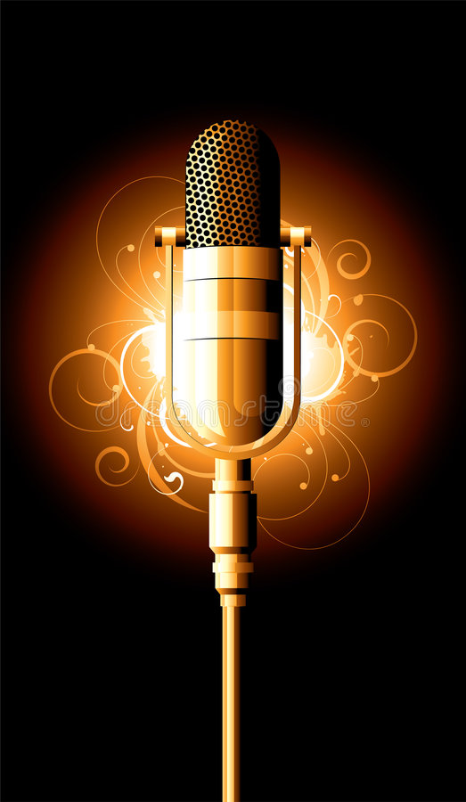 Microphone illustration. An illustration of a microphone royalty free illustration