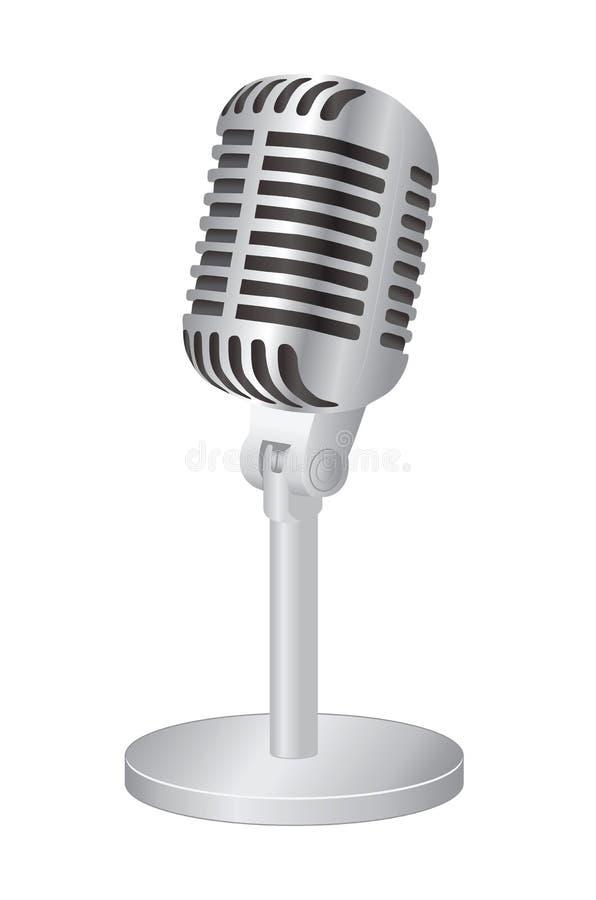 Microphone. Illustration on white background vector illustration
