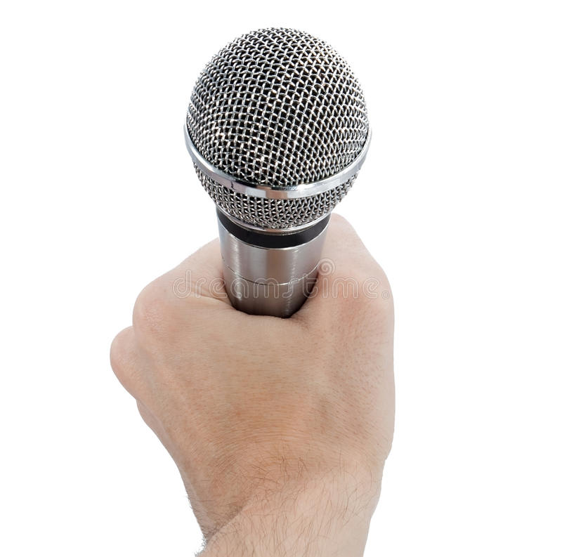 Free Microphone In Hand Royalty Free Stock Photos - 19275268