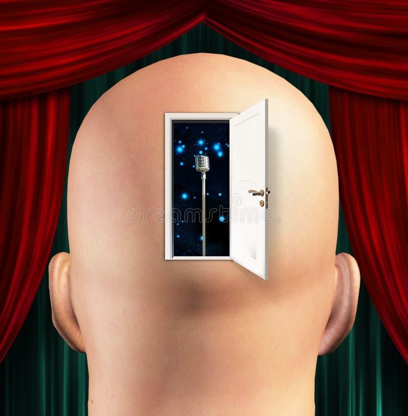 Download Microphone inside mind stock illustration. Illustration of medical - 22347163