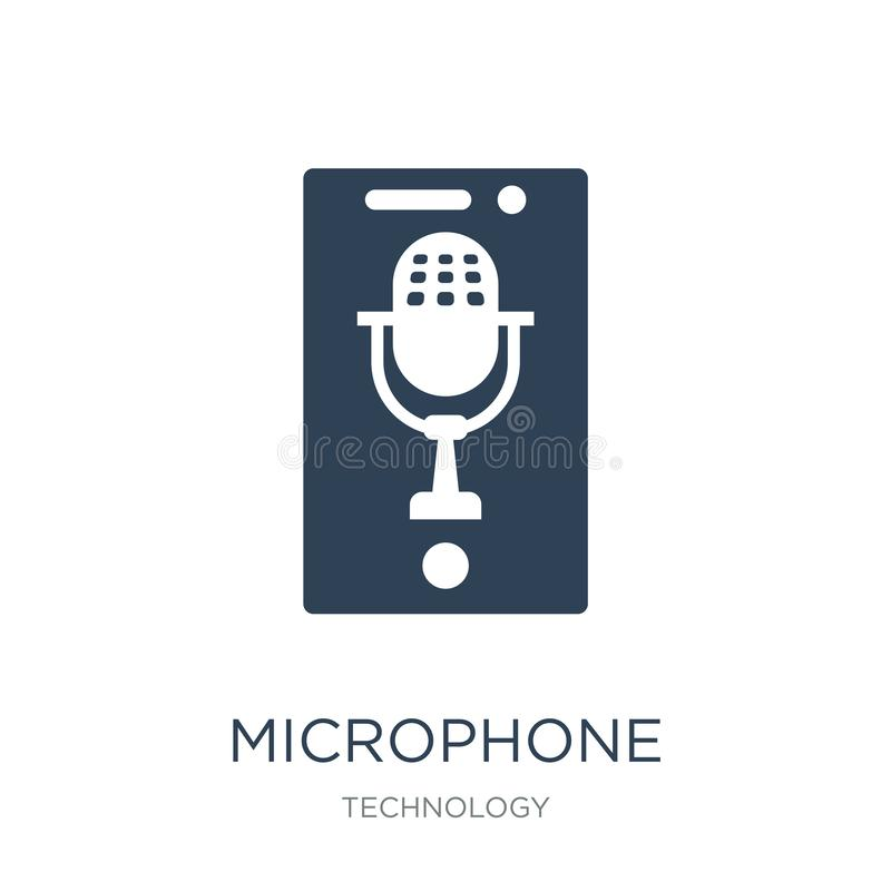 microphone interface icon in trendy design style. microphone interface icon isolated on white background. microphone interface stock illustration