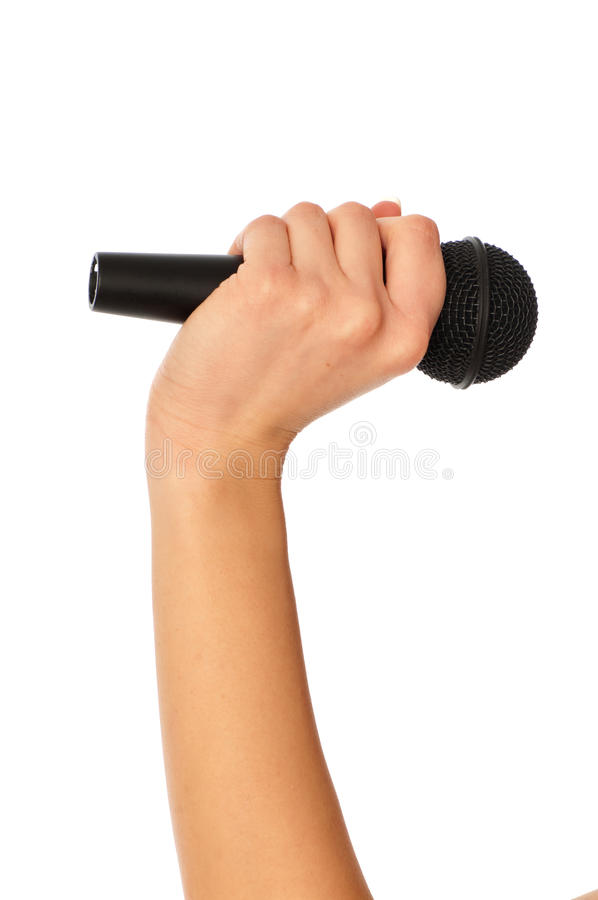 Download Microphone for interview stock photo. Image of business - 18219808