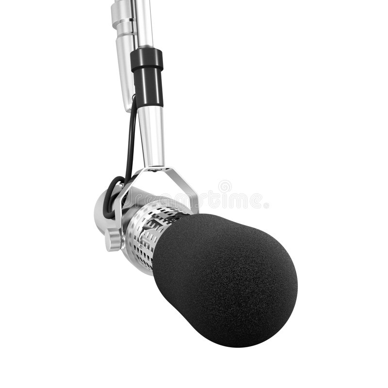Microphone isolated stock image