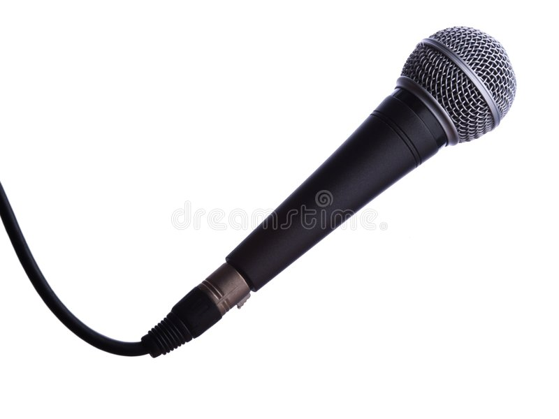 Microphone isolated royalty free stock photo
