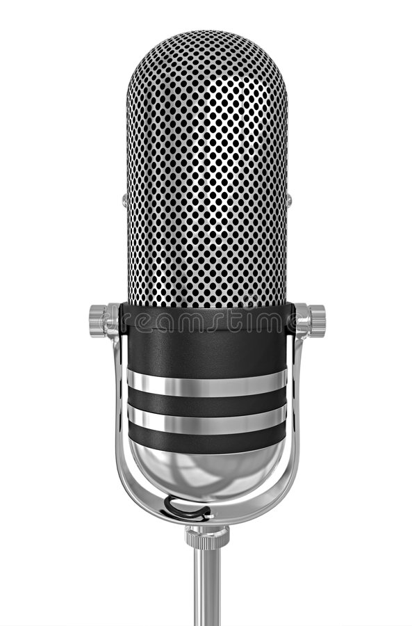 Microphone isolated royalty free stock images
