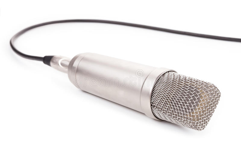 Microphone isolated on white background.  stock images
