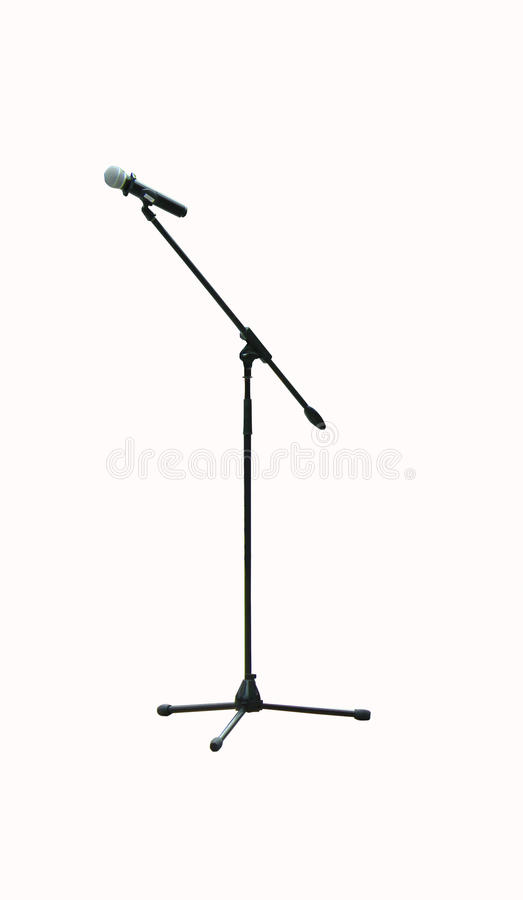 Microphone on a long stand royalty free stock images