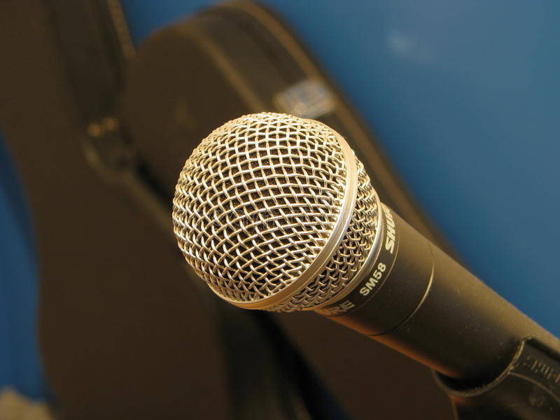 Microphone. Macro shot of a microphone royalty free stock images